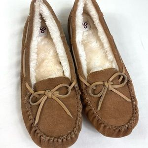 New SO 9 moccasin slippers real suede tan